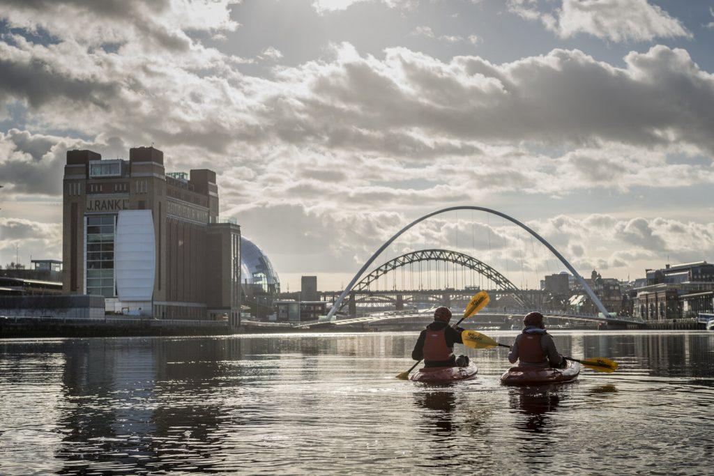 kayaking on the River Tyne