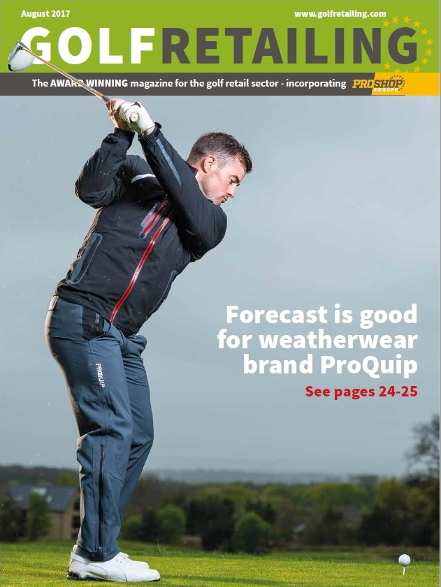 golf retailing magazine front cover