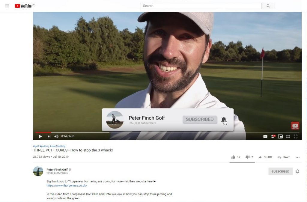 Peter Finch influencer marketing campaign for Thorpeness