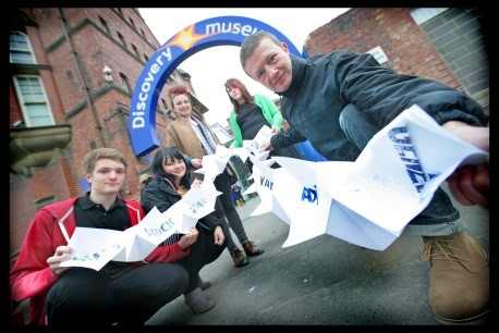 Artists launch the Young People's Charter for Arts and Culture at Discovery Museum, Newcastle