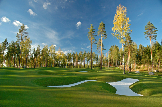 the 4th hole at Linna Golf Finland