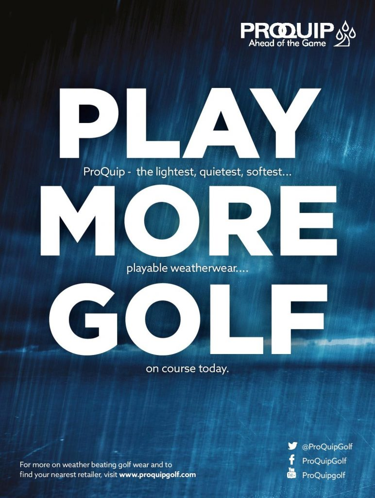 advertising by ProQuip Golf copywriting by Matthew Moore