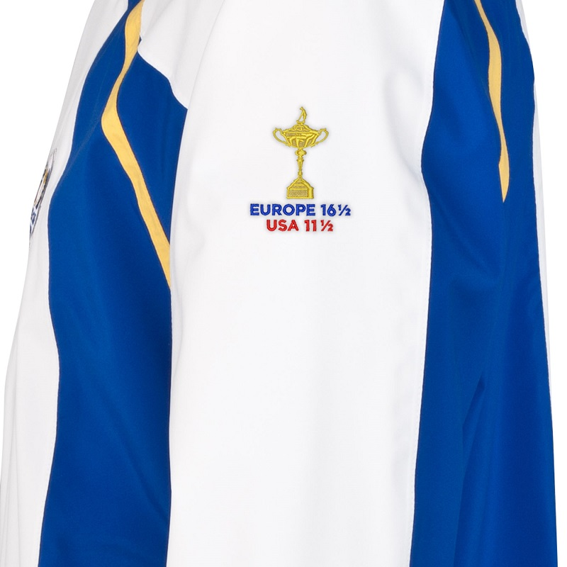 ProQuip rain jacket embroidered with result of the 2014 Ryder Cup