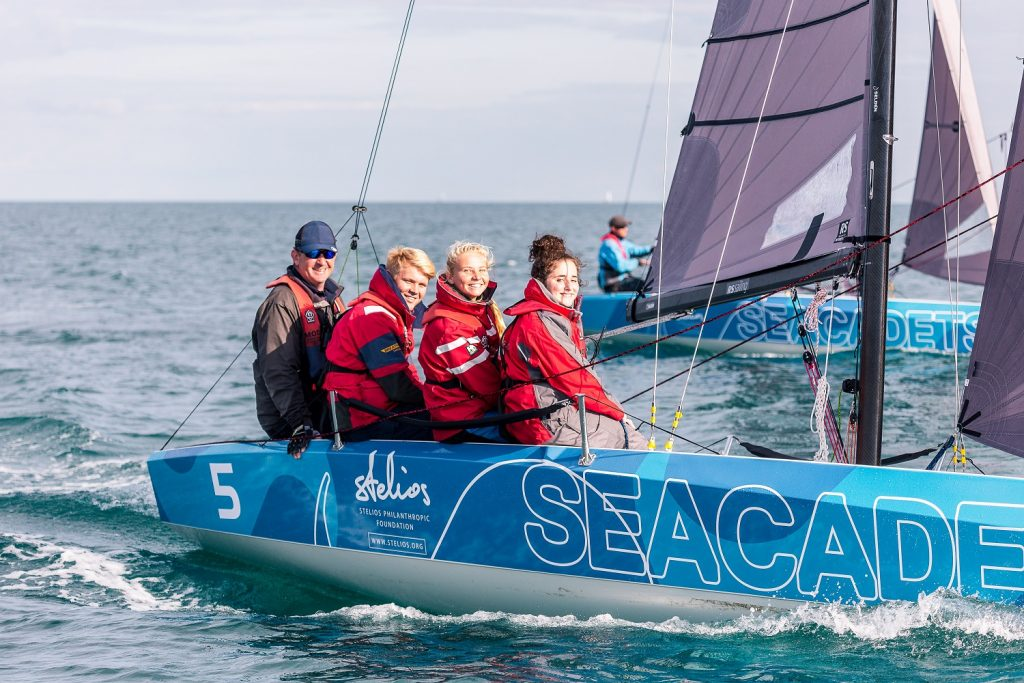 Sea Cadets training on an Rs21 yacht at Weymouth