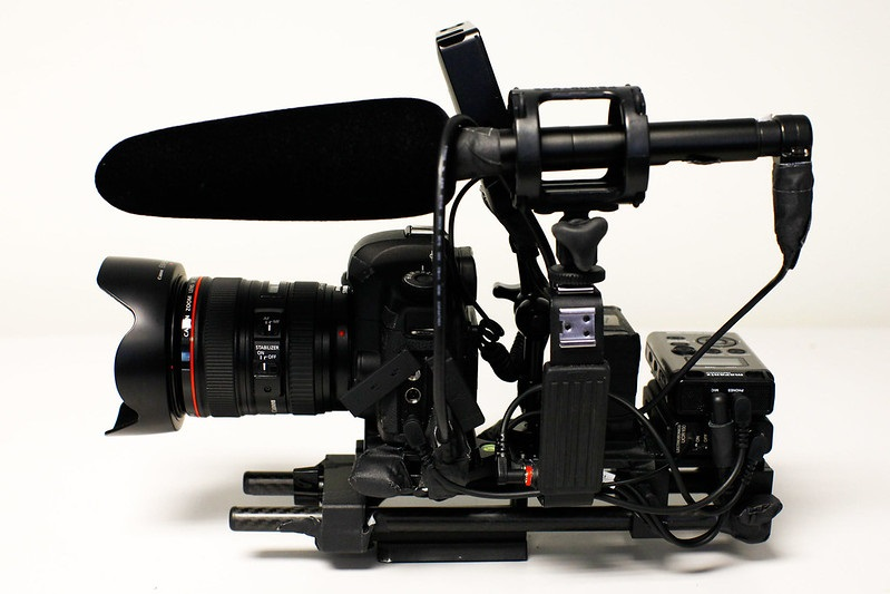 A video camera and microphone
