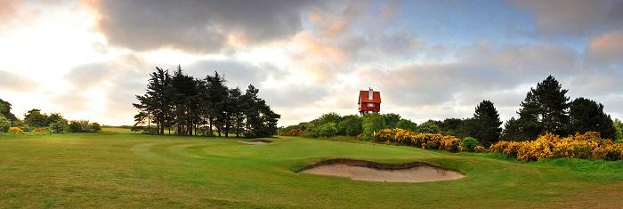 18th green Thorpeness Golf Club Suffolk