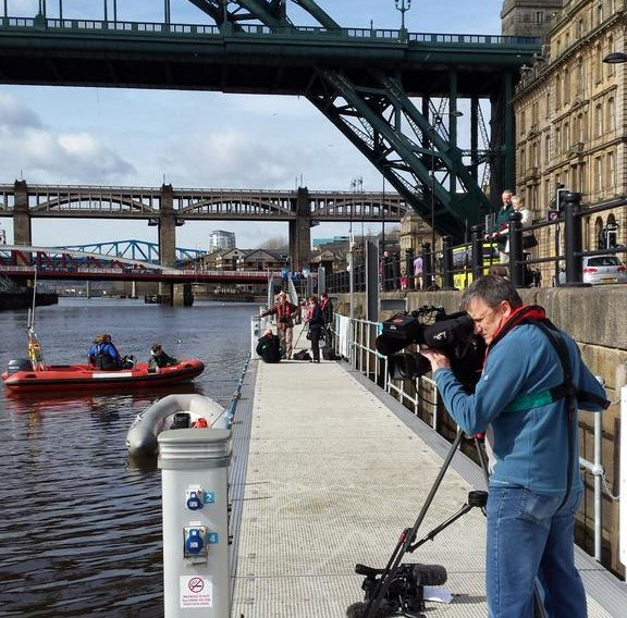 charitable sector PR case study cameraman films powerboats